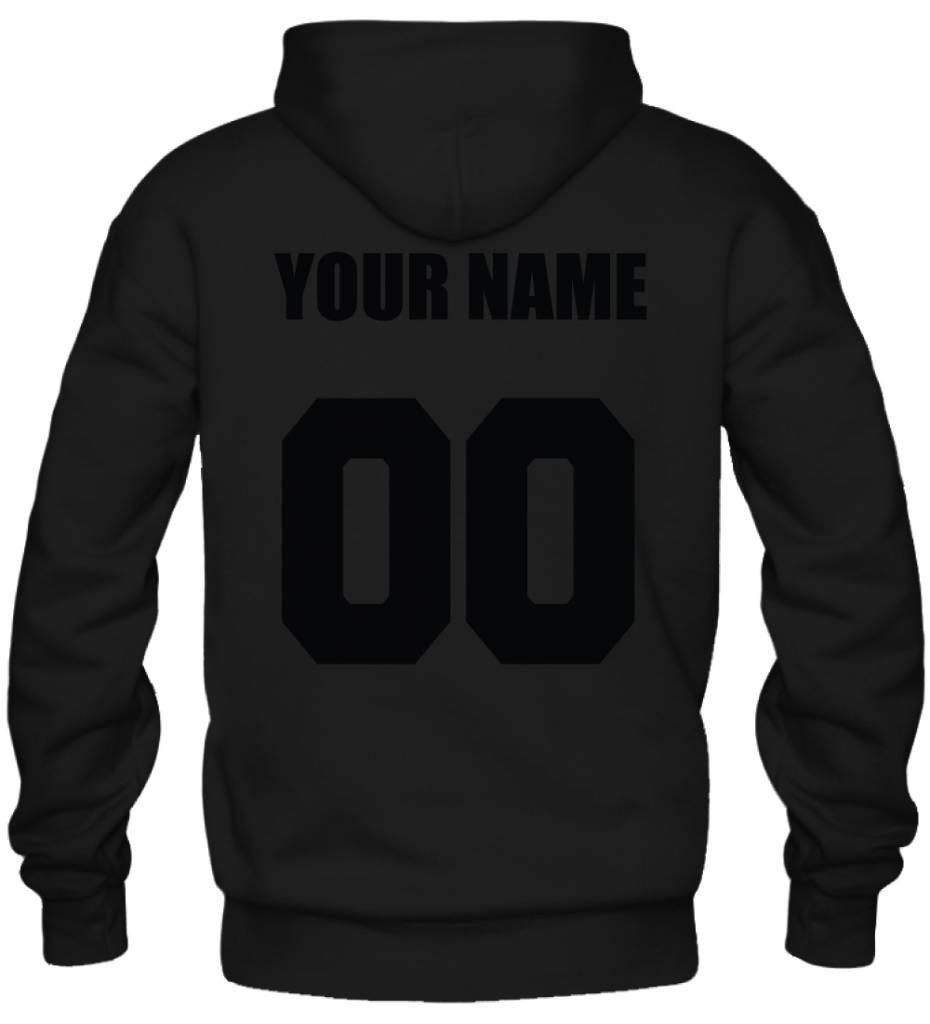 CUSTOM TEAM NUMBER HOODY ALL BLACK EDITION (UNISEX)