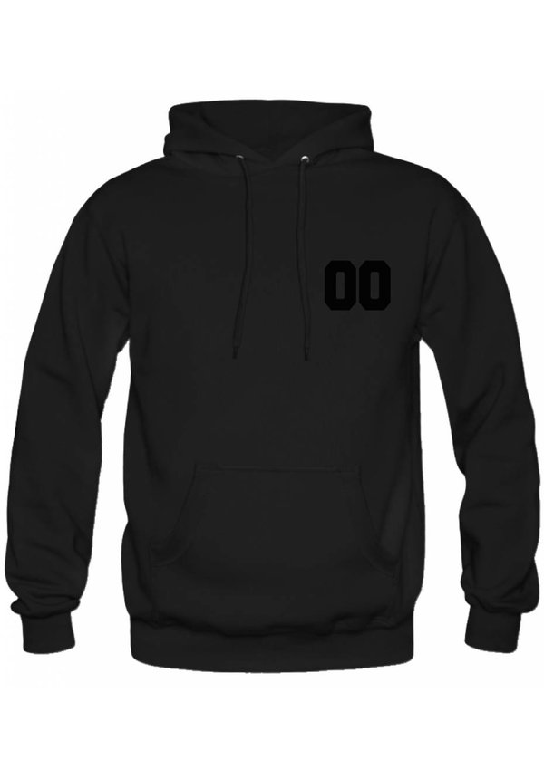 CUSTOM TEAM NUMBER HOODIE ALL BLACK EDITION (UNISEX)