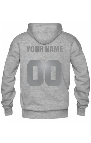 CUSTOM TEAM NUMBER HOODIE SILVER EDITION (UNISEX)