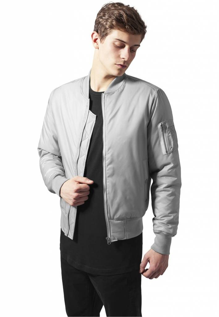 BASIC BOMBER JKT GREY (MEN)