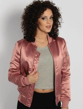 SATIN BOMBER ROSE (WMN)