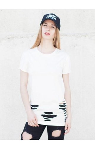 SIXTH JUNE DESTROYED TEE WHITE (WMN)