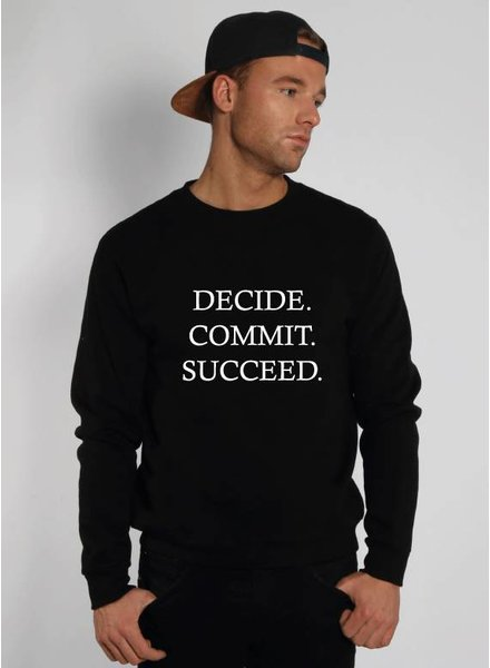 DECIDE COMMIT SUCCEED SWEATER (MEN)