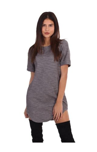 LA SISTERS DAMAGED TSHIRT DRESS GREY