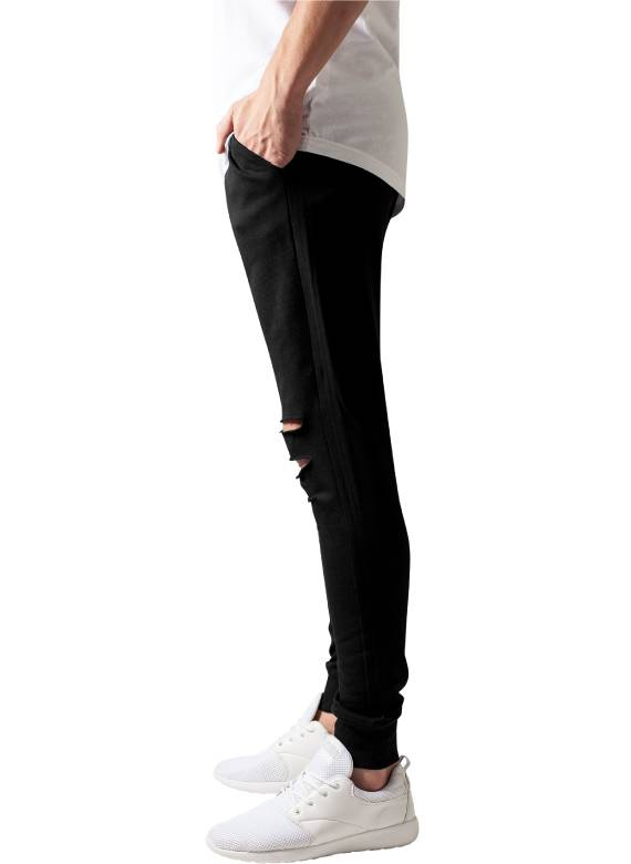 CUTTED TERRY PANTS BLACK (MEN)