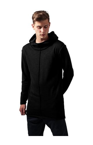 SLUB TERRY LONG HOODIE BLACK (MEN)