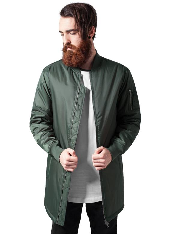 BASIC LONG BOMBER JKT OLIVE (MEN)