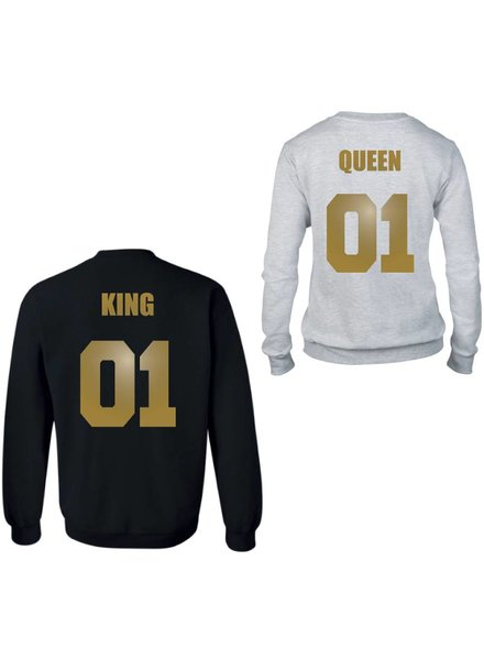 KING & QUEEN COUPLE SWEATERS GOLD EDITION