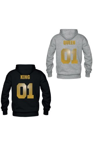 KING & QUEEN COUPLE HOODIES GOLD EDITION