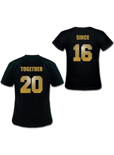 TOGETHER SINCE COUPLE TEES GOLD EDITION