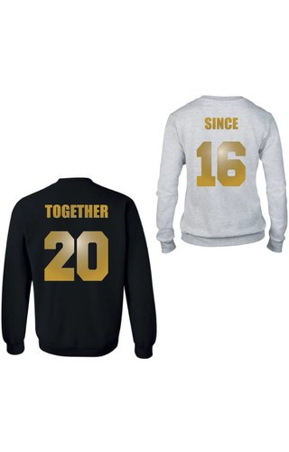TOGETHER SINCE COUPLE SWEATERS GOLD EDITION