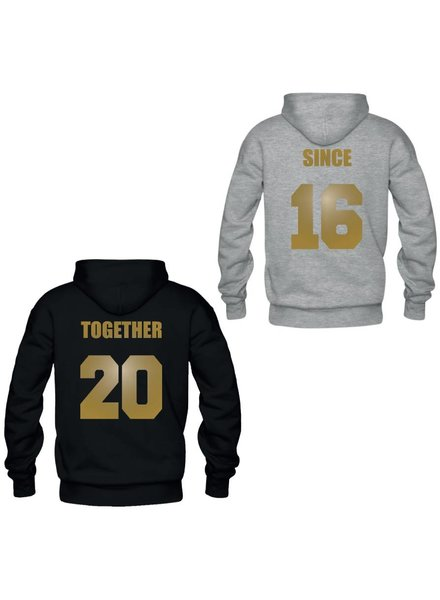 TOGETHER SINCE COUPLE HOODIES GOLD EDITION