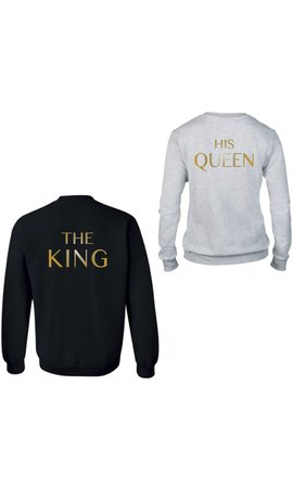 THE KING & HIS QUEEN COUPLE SWEATERS GOLD EDITION