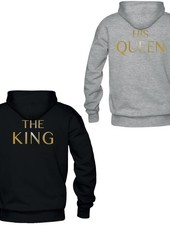 THE KING & HIS QUEEN COUPLE HOODIES GOLD EDITION