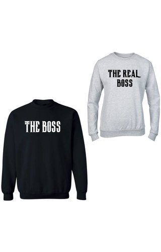 THE (REAL) BOSS COUPLE SWEATERS