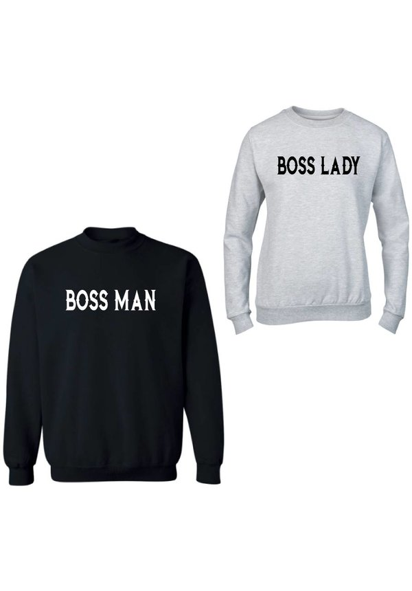 BOSS MAN & LADY COUPLE SWEATERS