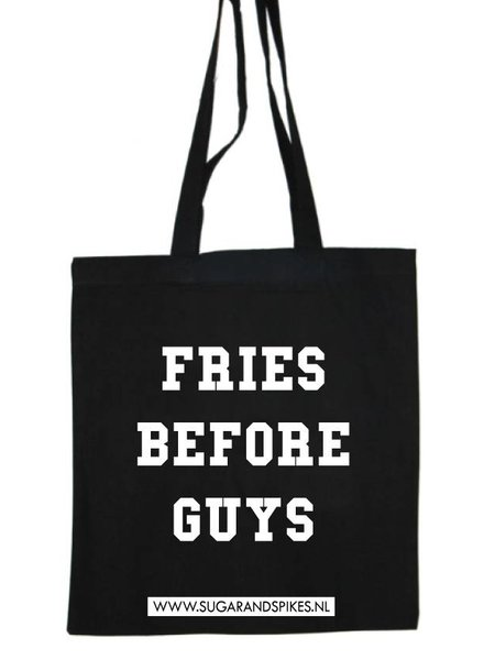 FRIES BEFORE GUYS COTTON BAG