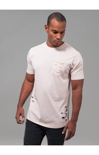 RIPPED POCKET TEE PINK