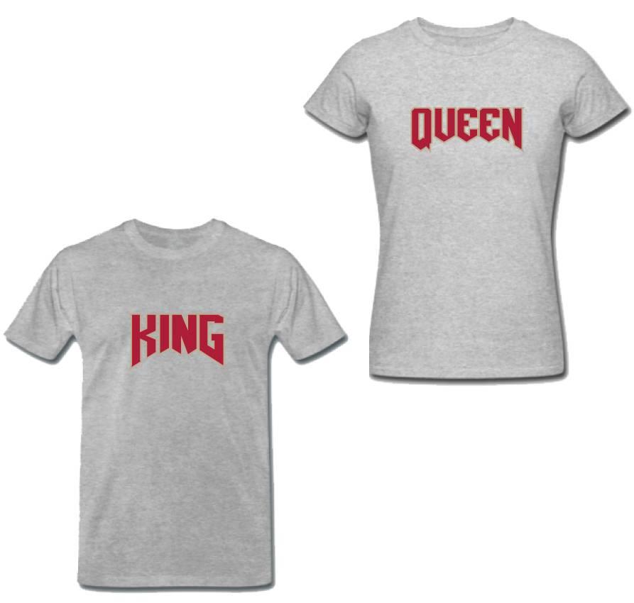 KING & QUEEN ROCK COUPLE TEES