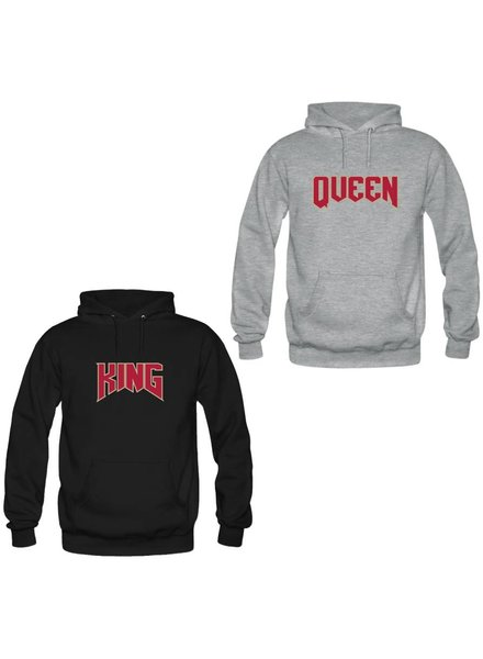KING & QUEEN ROCK COUPLE HOODIES