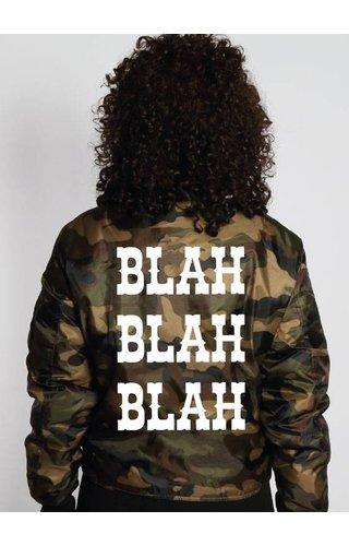 BLAH BLAH BLAH BOMBER JKT
