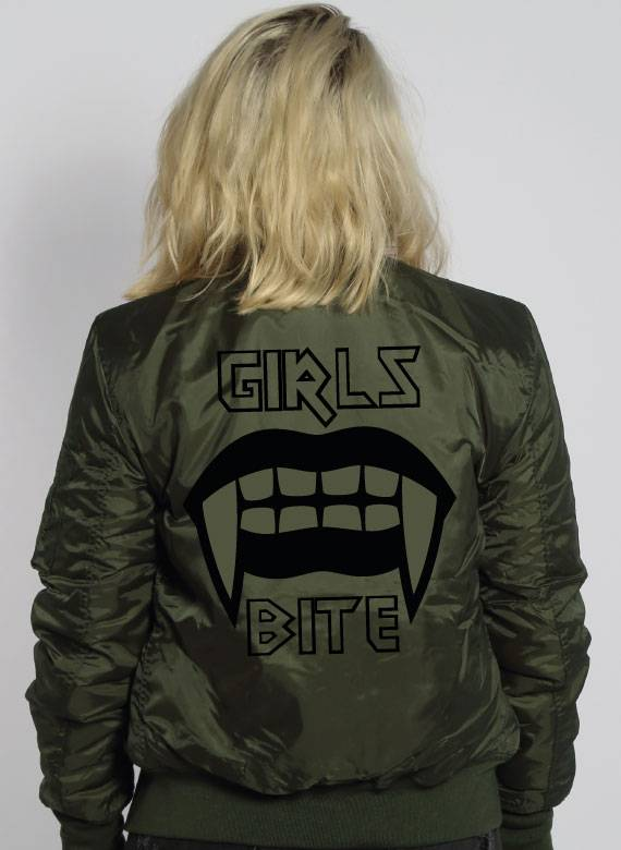 GIRLS BITE BOMBER JKT