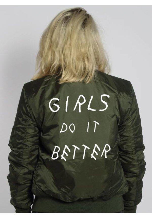 GIRLS DO IT BETTER BOMBER JKT