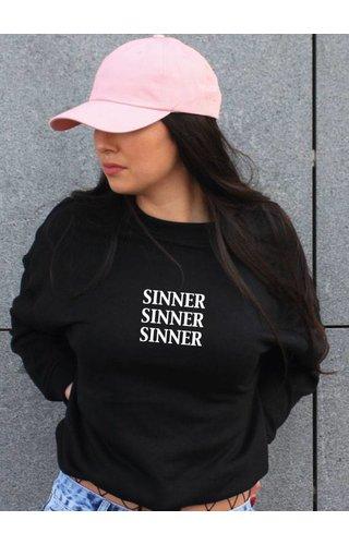 SINNER OVERSIZED CROP SWEATER