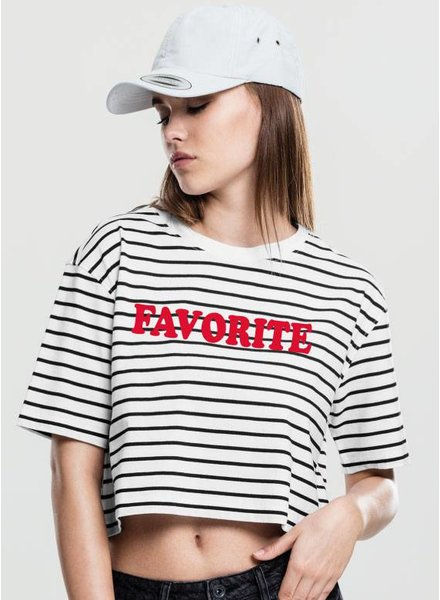 FAVORITE STRIPED OVERSIZED CROP TEE