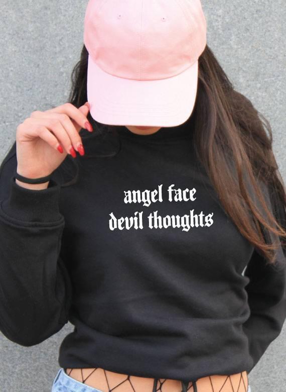 ANGEL FACE OVERSIZED CROP SWEATER