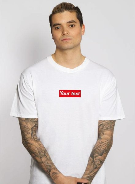 CUSTOM RED BOX TEE (MEN)