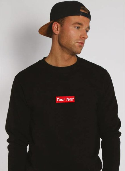 CUSTOM RED BOX SWEATER (MEN)