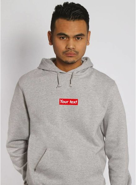 CUSTOM RED BOX HOODIE (MEN)