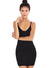 LA SISTERS SUEDE BUSTIER DRESS BLACK