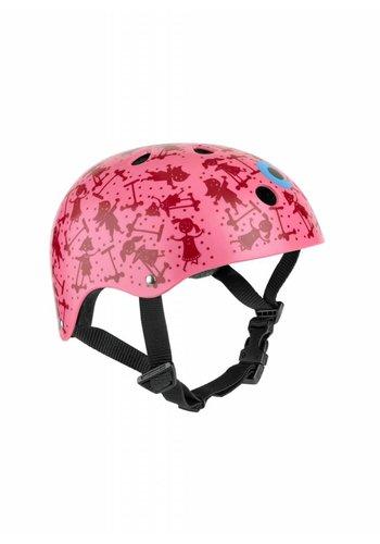Micro helm roze print