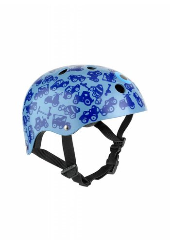 Micro helm blauwe print