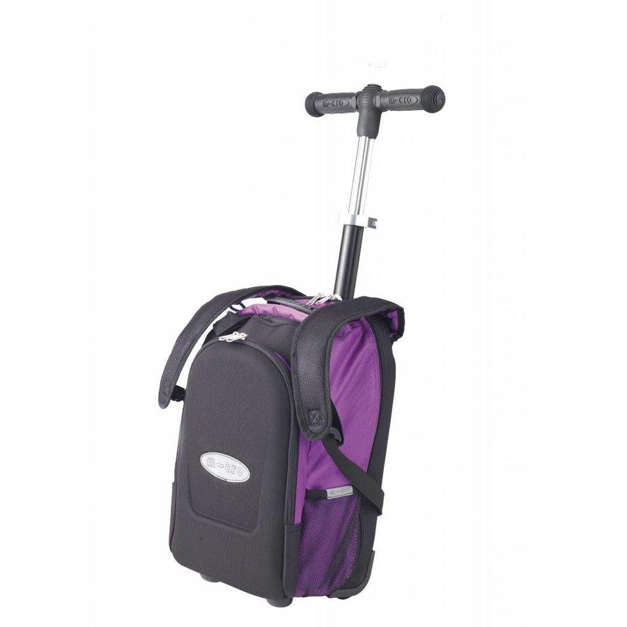 Maxi Micro rugzak/trolley met T-bar paars