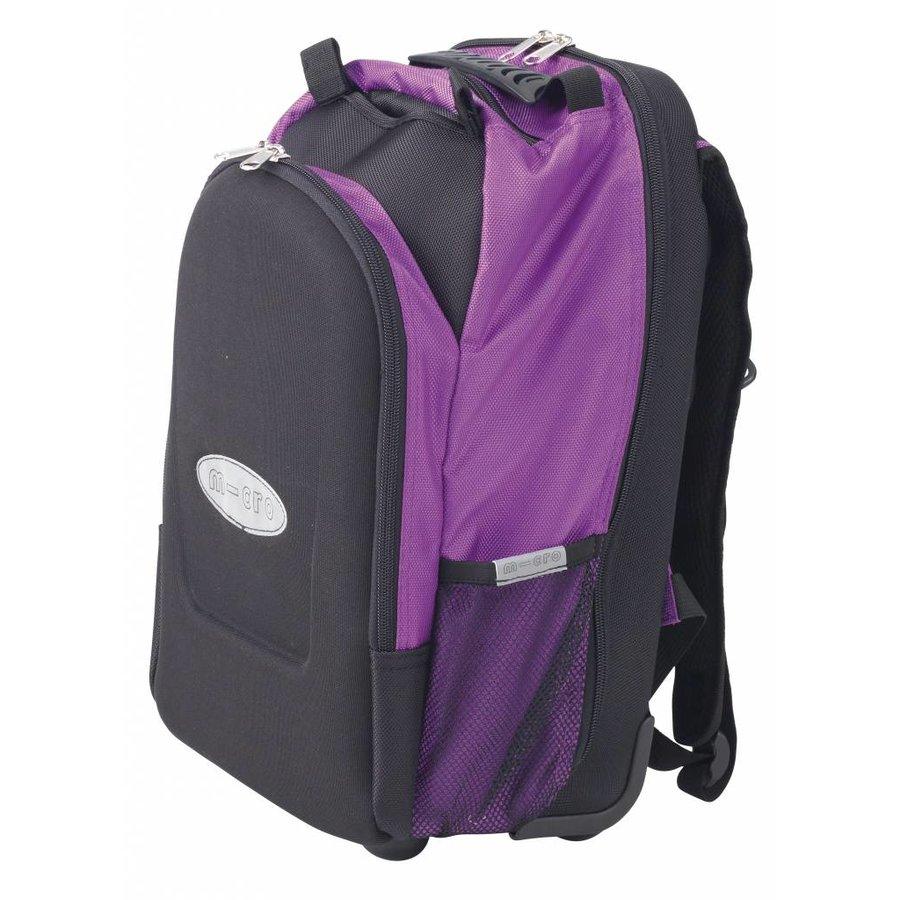 Maxi Micro backpack/trolley + T-bar purple