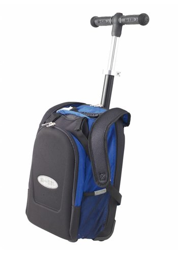 Maxi Micro backpack/trolley with T-bar blue