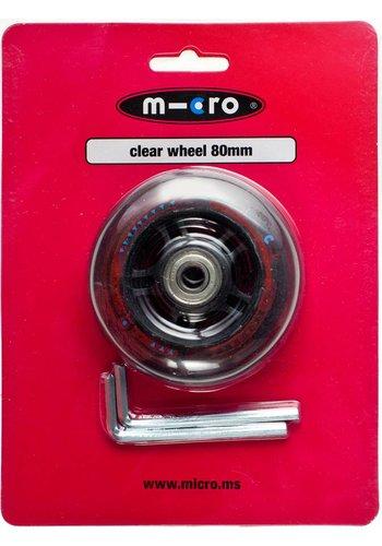 Micro wiel 80mm transparant (AC5002B)