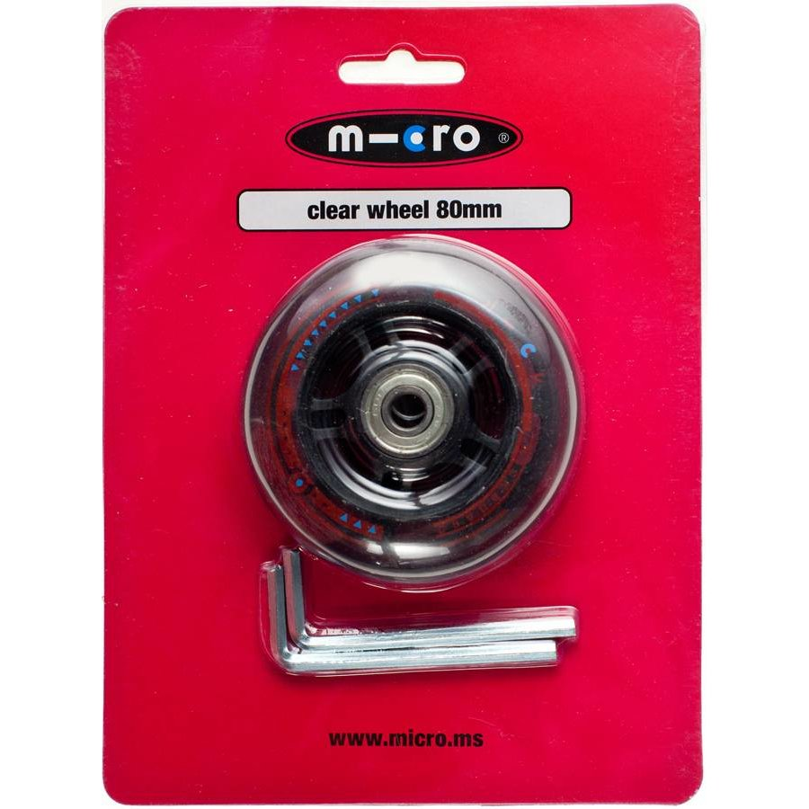 Micro wiel 80mm transparant (AC-5002B)