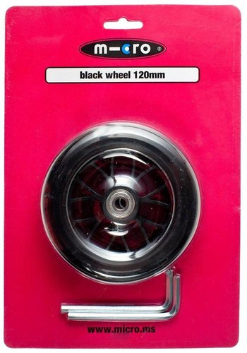 Micro wiel 120mm zwart (AC5006B)