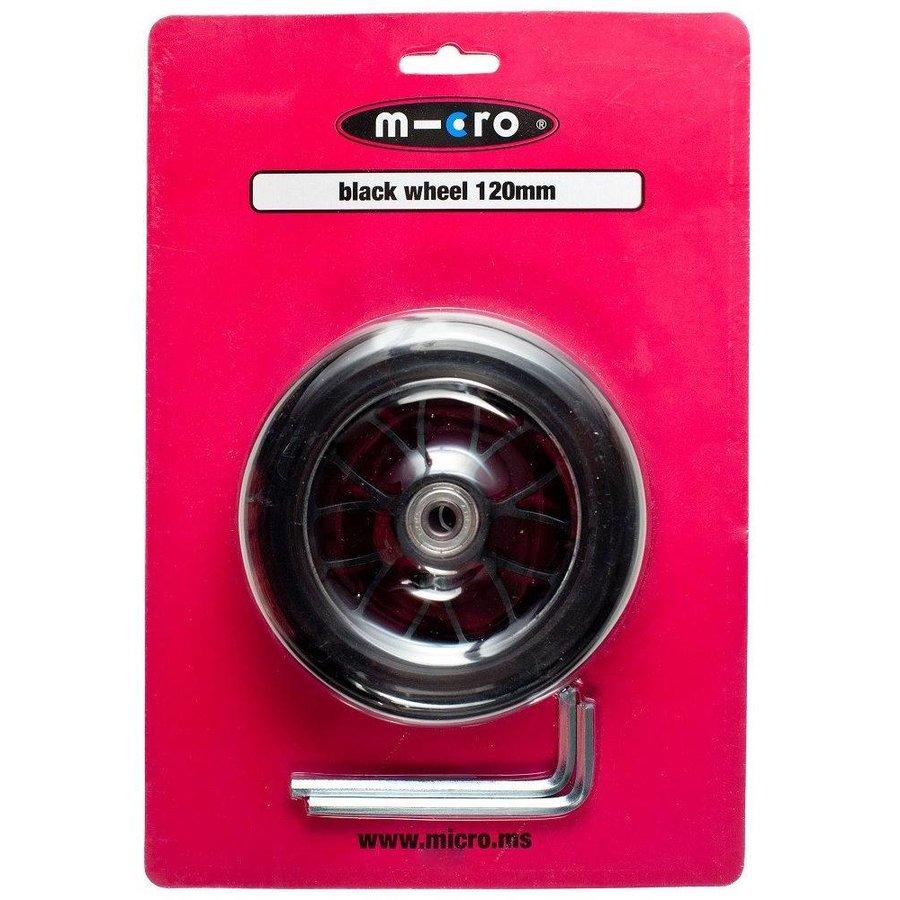 Micro wiel 120mm zwart (AC-5006b)