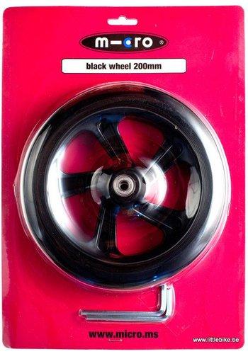 Micro wiel 200mm zwart (AC5010B)