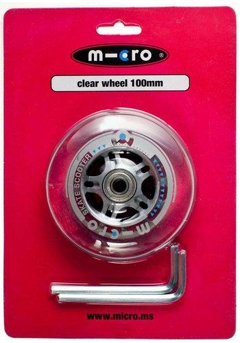 Micro wiel 100mm transparant (AC5003B)
