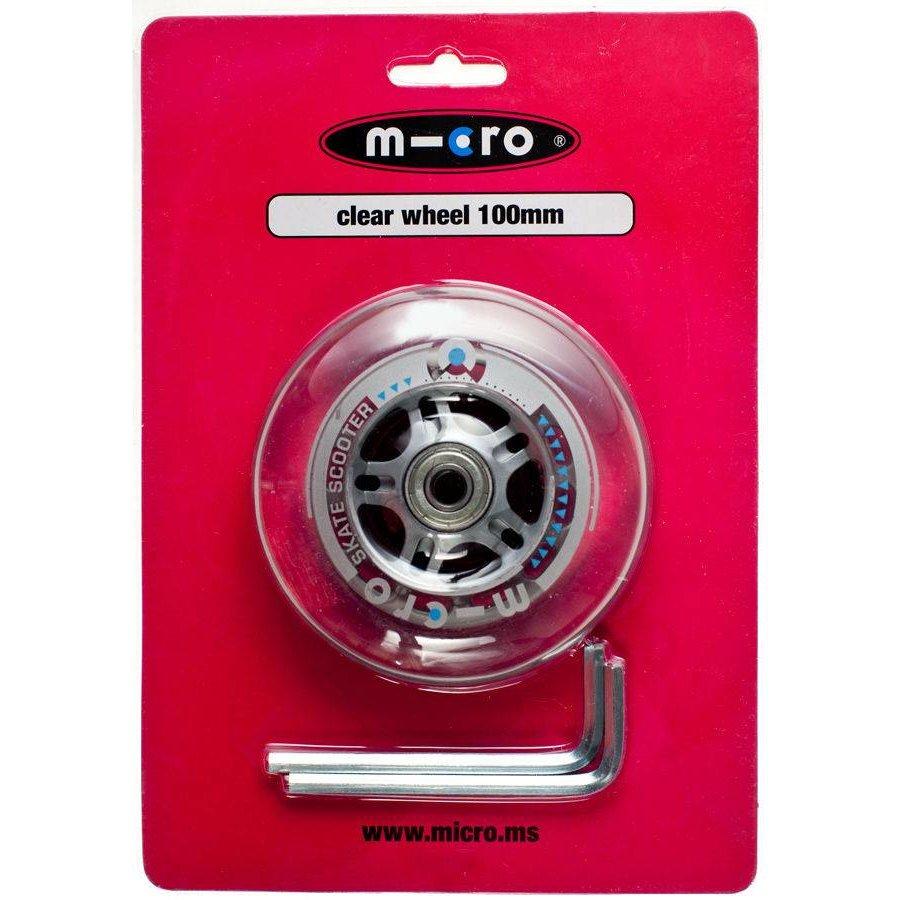 Micro wiel 100mm transparant (AC-5003B)