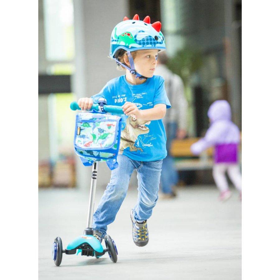 Micro helm 3D dino blauw
