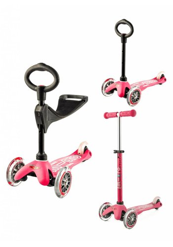 Mini Micro scooter 3in1 Deluxe Pink