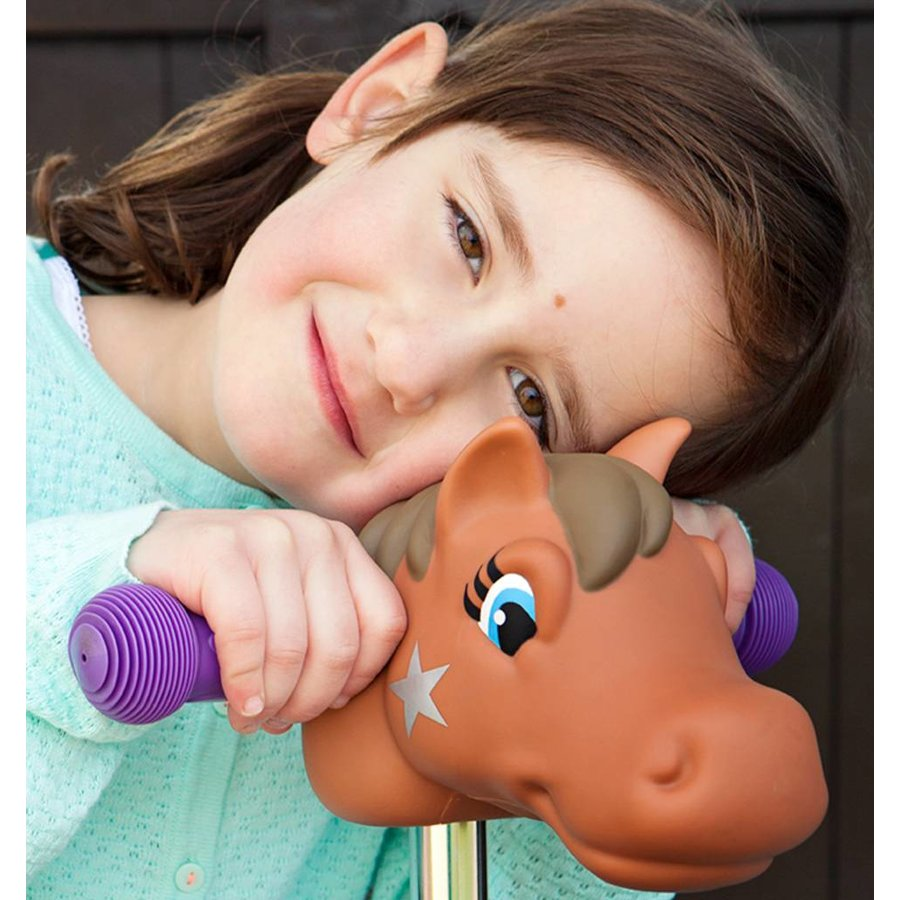 Scootaheadz pony brown