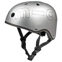 Micro helm metallic zilver